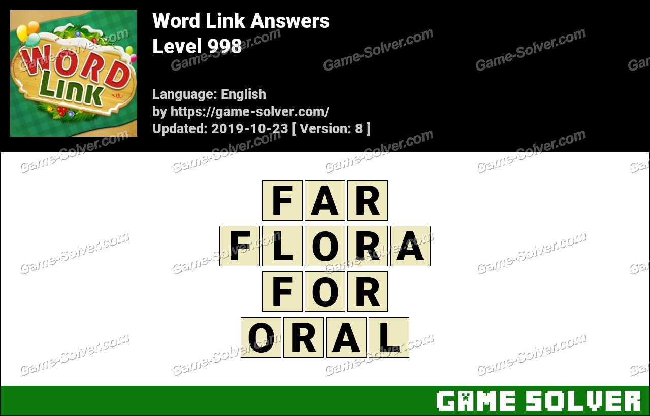 Word Link Level 998 Answers