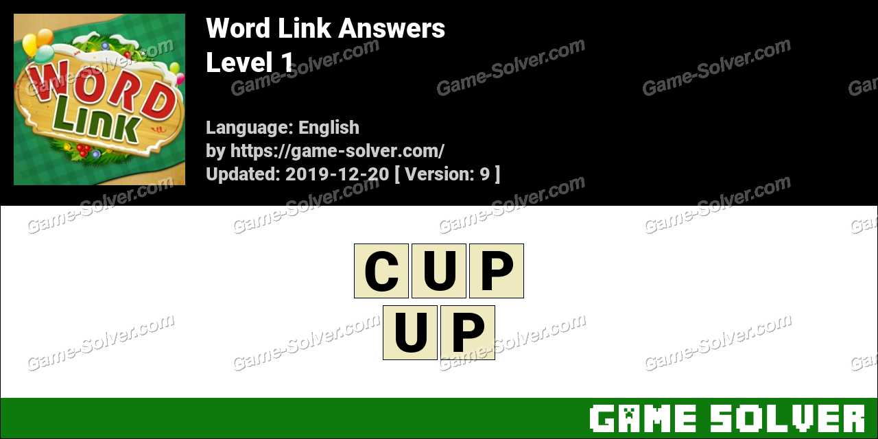Word Link Level 1 Answers