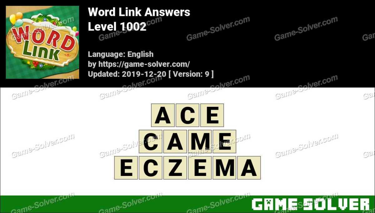 Word Link Level 1002 Answers