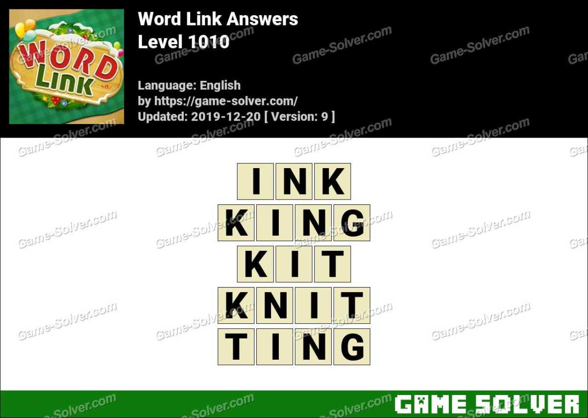 Word Link Level 1010 Answers