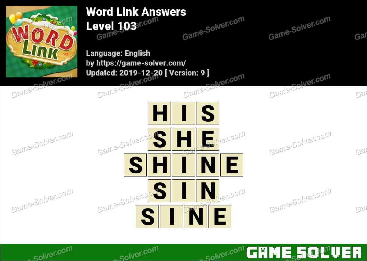 Word Link Level 103 Answers