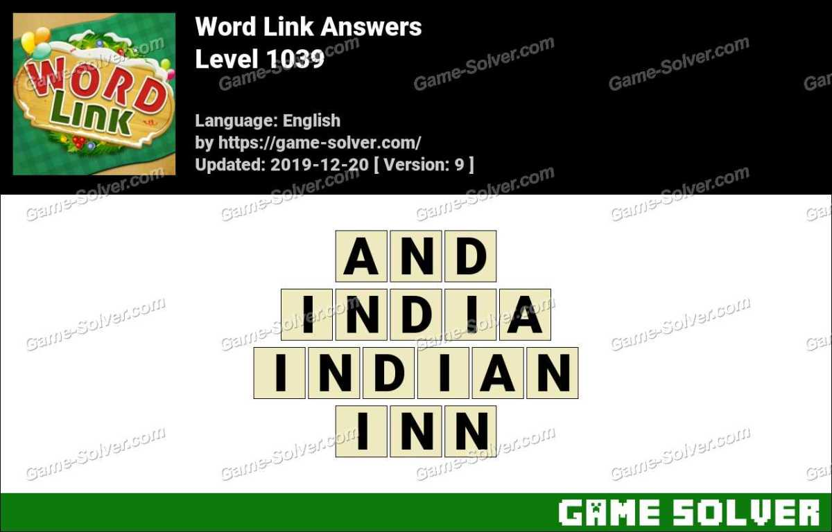 Word Link Level 1039 Answers