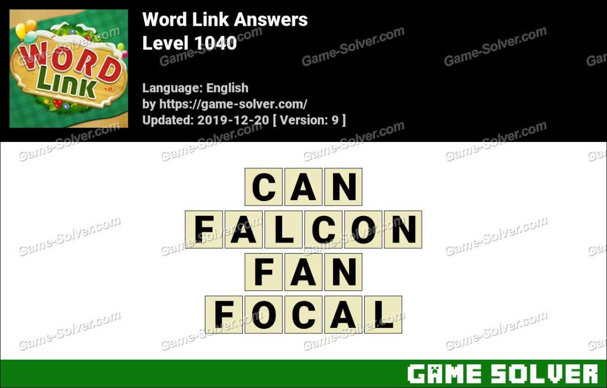 Word Link Level 1040 Answers