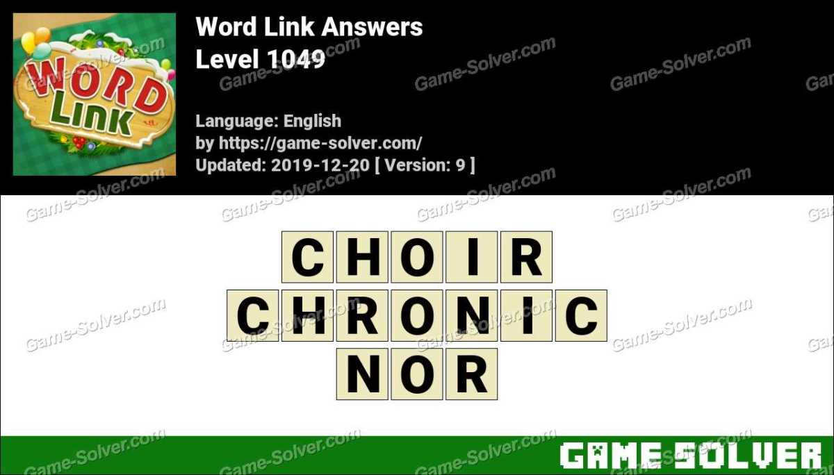 Word Link Level 1049 Answers