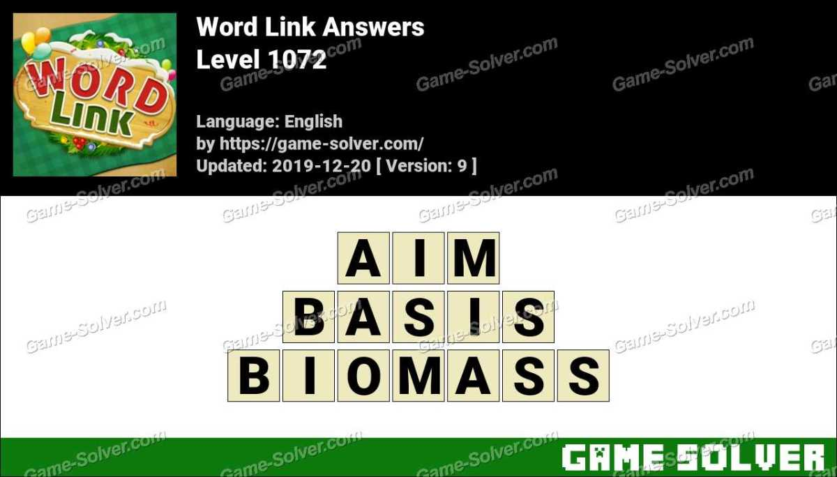 Word Link Level 1072 Answers