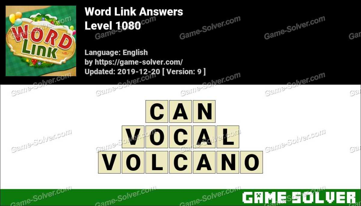Word Link Level 1080 Answers