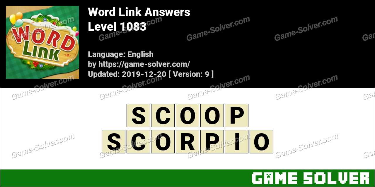Word Link Level 1083 Answers