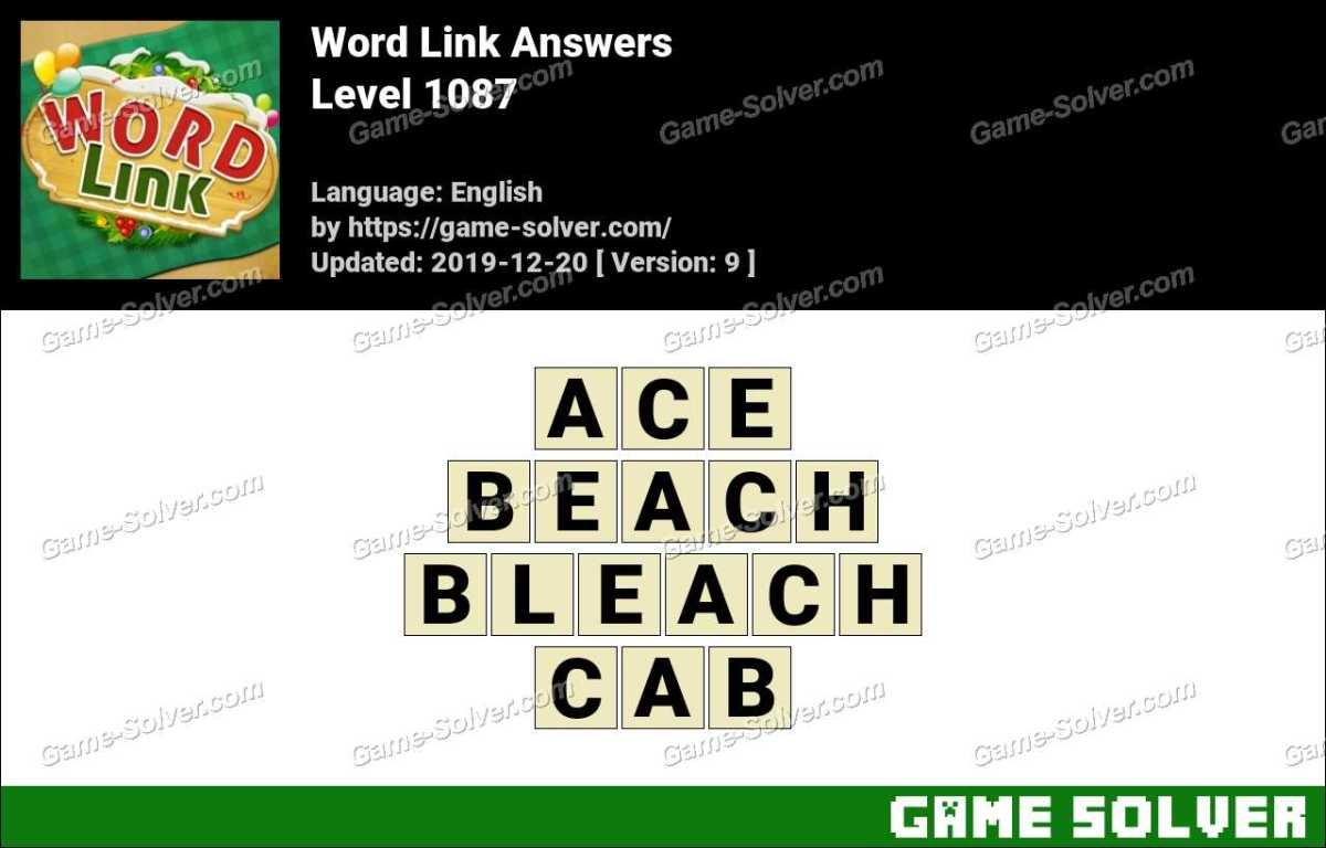 Word Link Level 1087 Answers