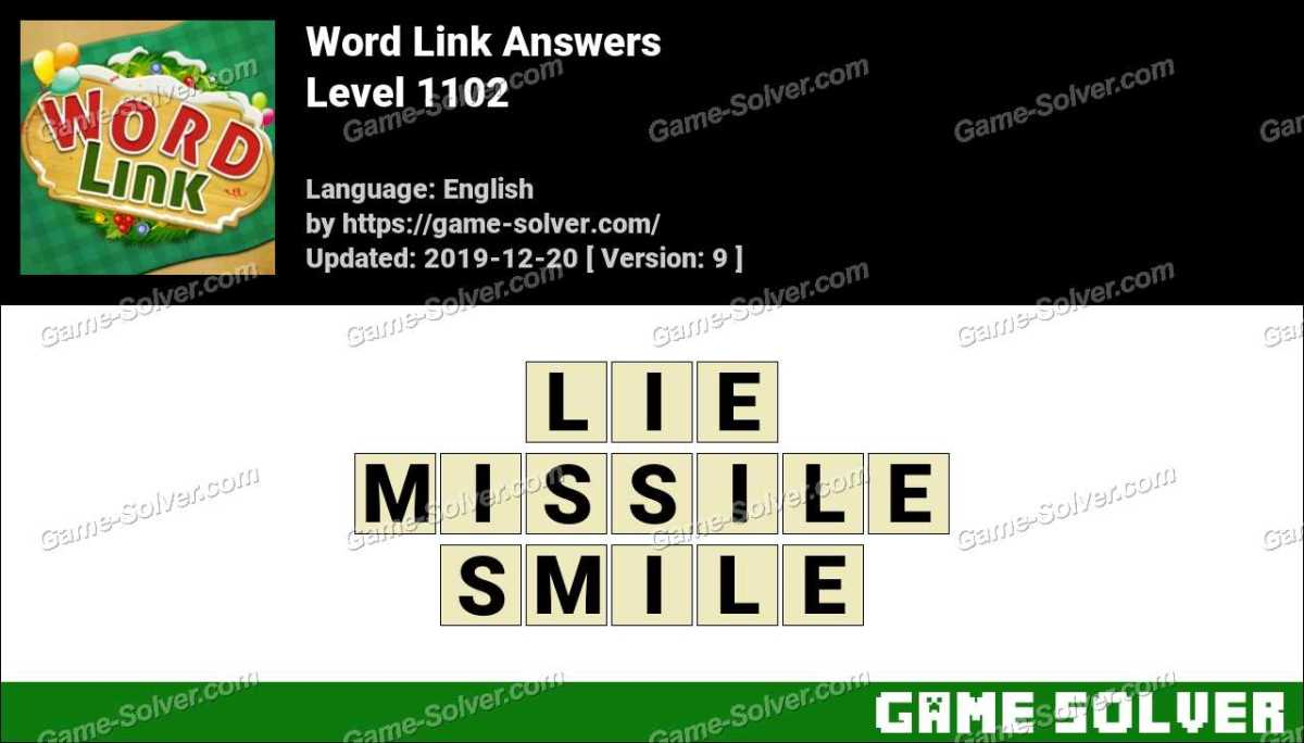 Word Link Level 1102 Answers