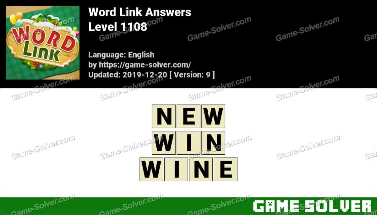 Word Link Level 1108 Answers