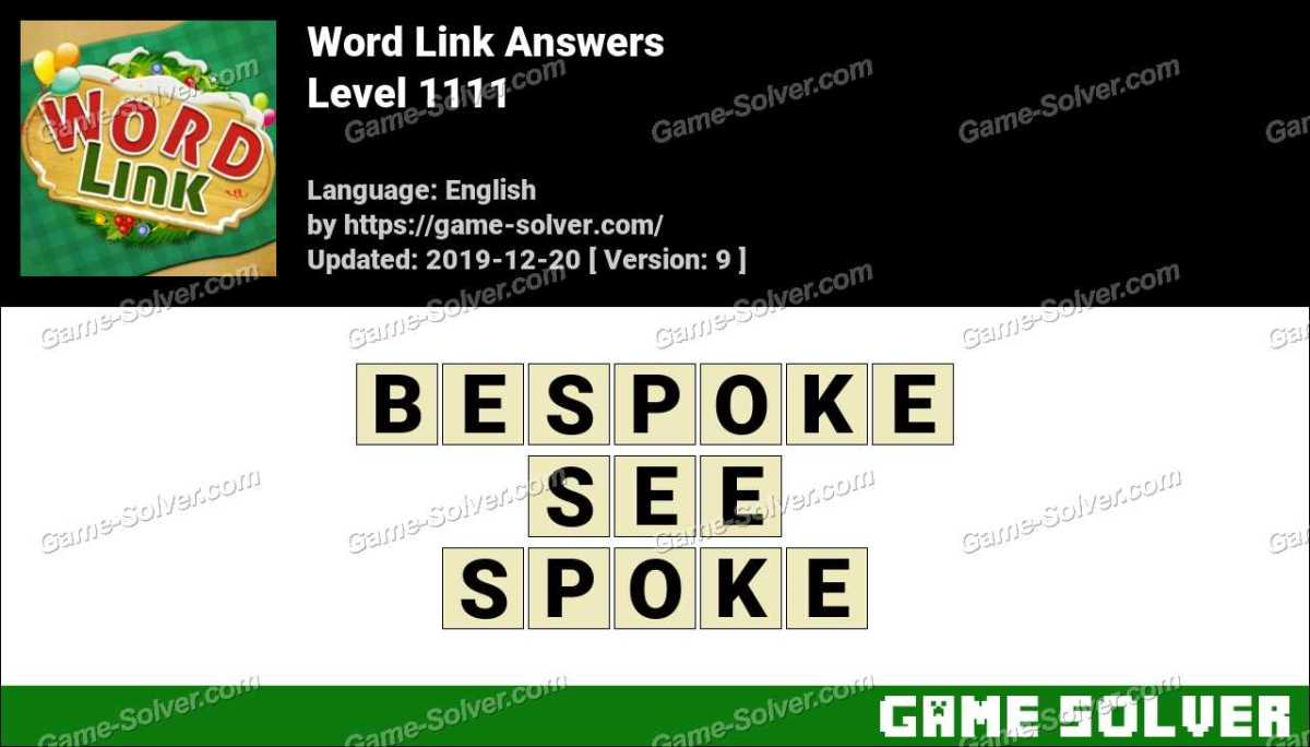 Word Link Level 1111 Answers