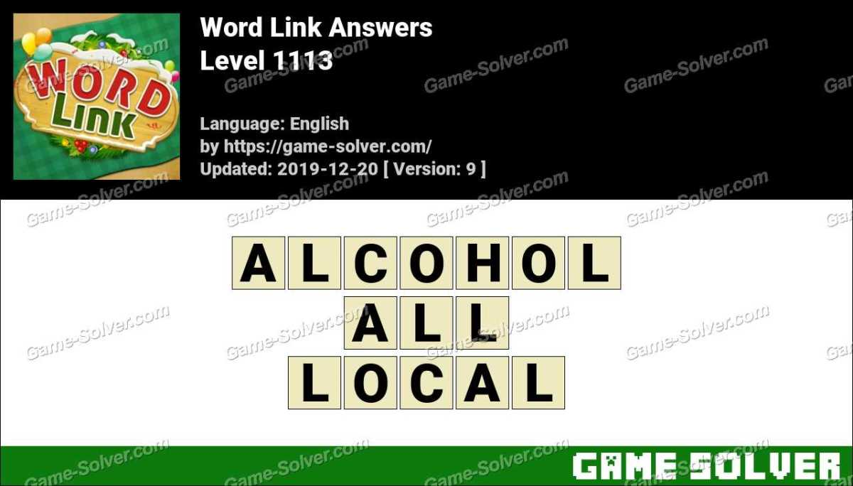Word Link Level 1113 Answers