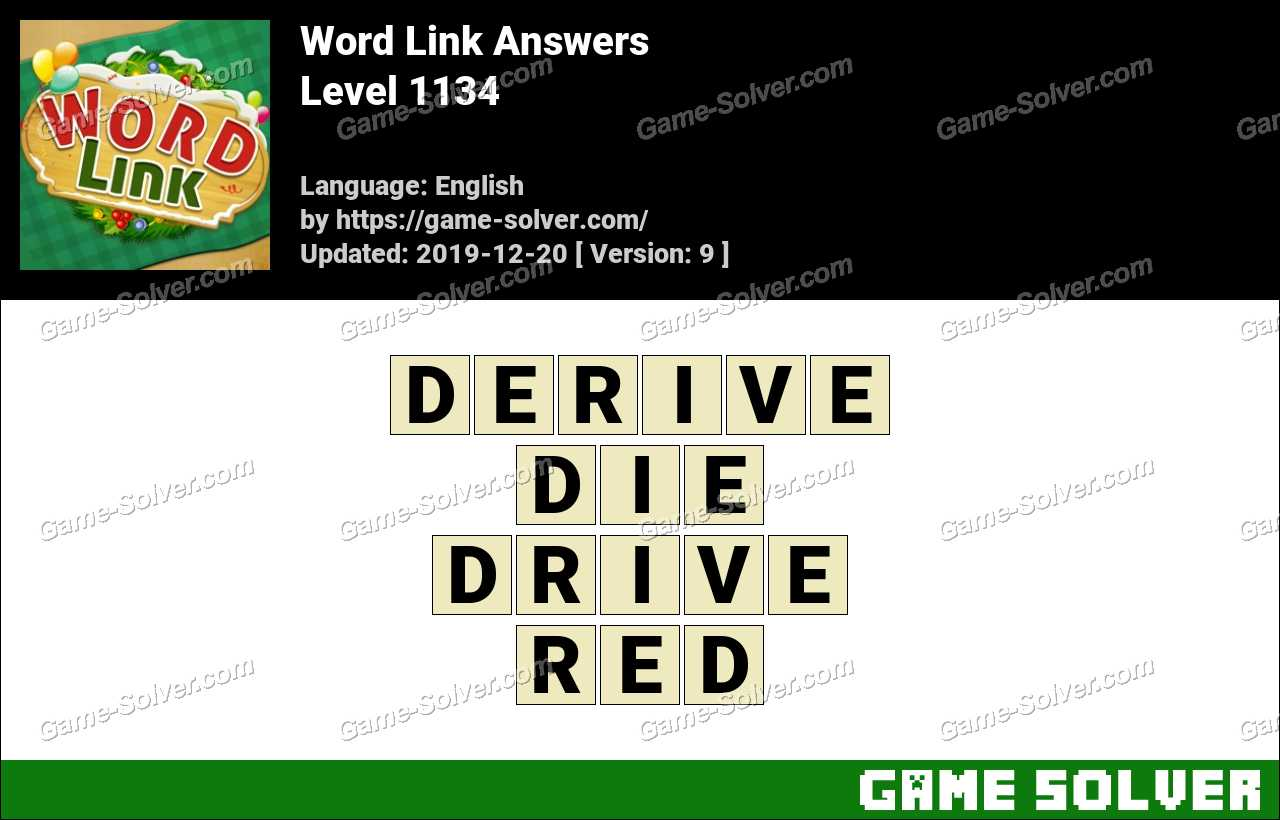 Word Link Level 1134 Answers