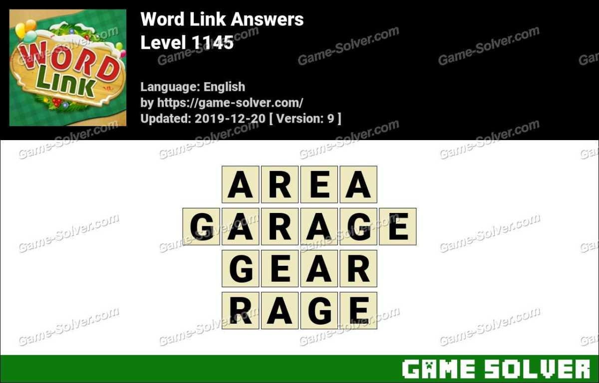 Word Link Level 1145 Answers