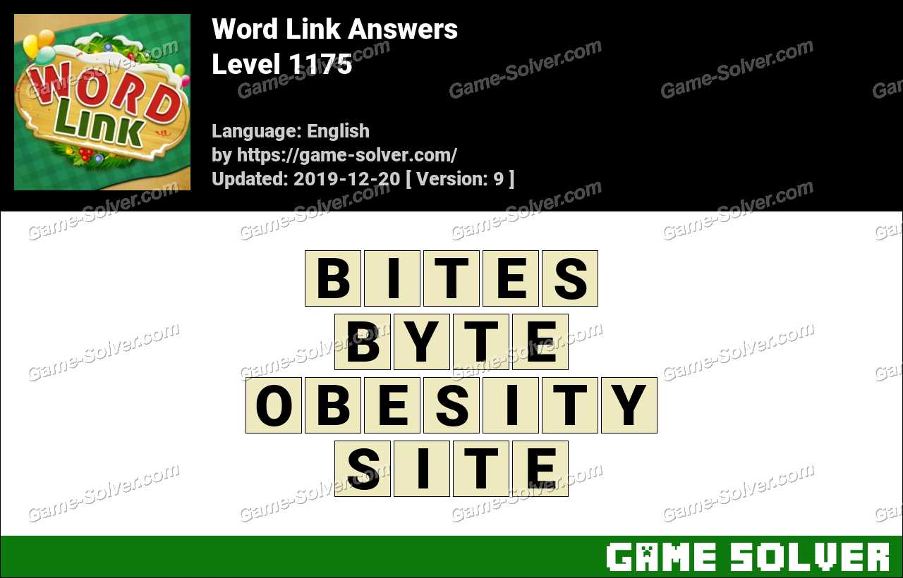 Word Link Level 1175 Answers