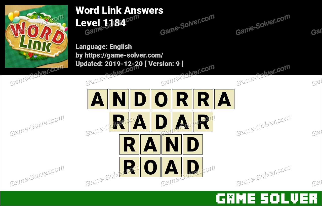 Word Link Level 1184 Answers