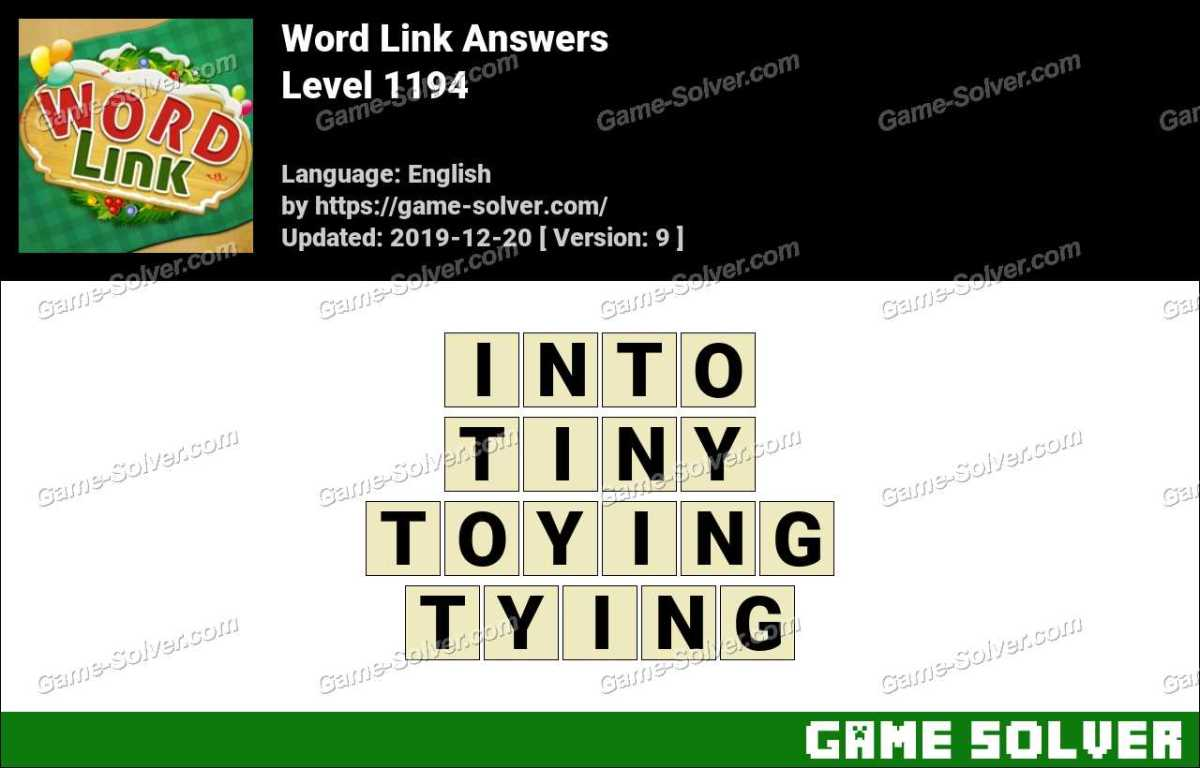 Word Link Level 1194 Answers