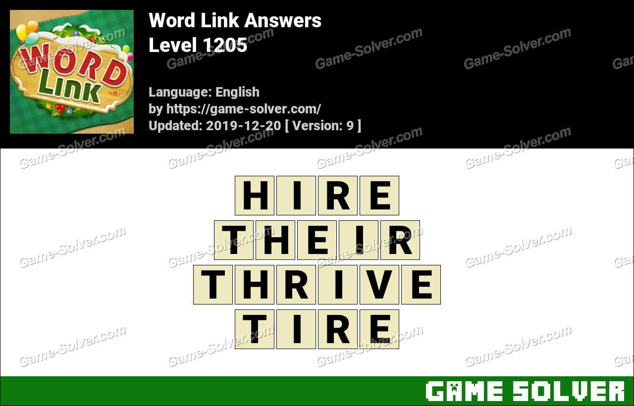 Word Link Level 1205 Answers