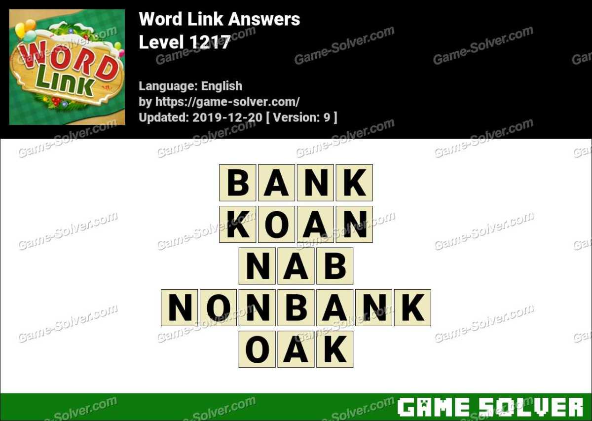 Word Link Level 1217 Answers