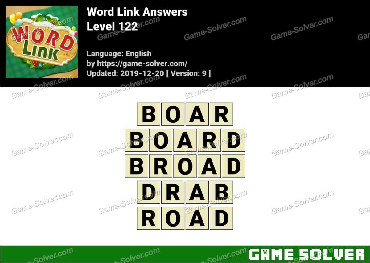 Word Link Level 122 Answers