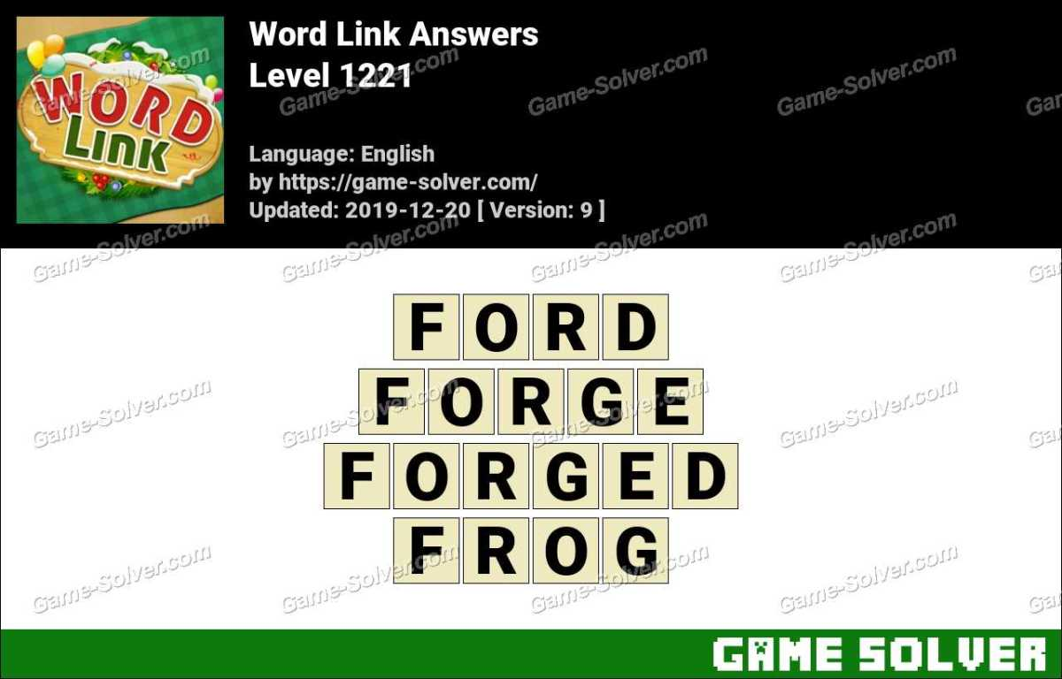 Word Link Level 1221 Answers