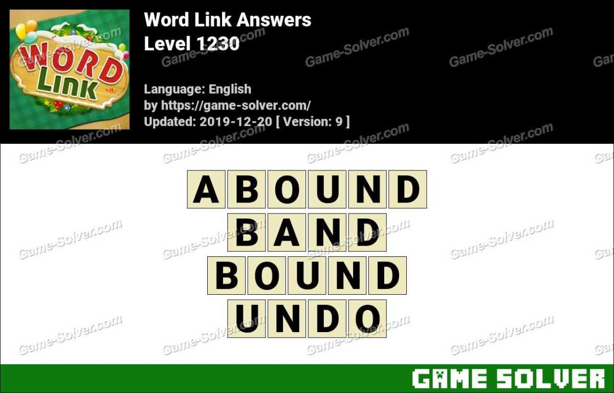 Word Link Level 1230 Answers