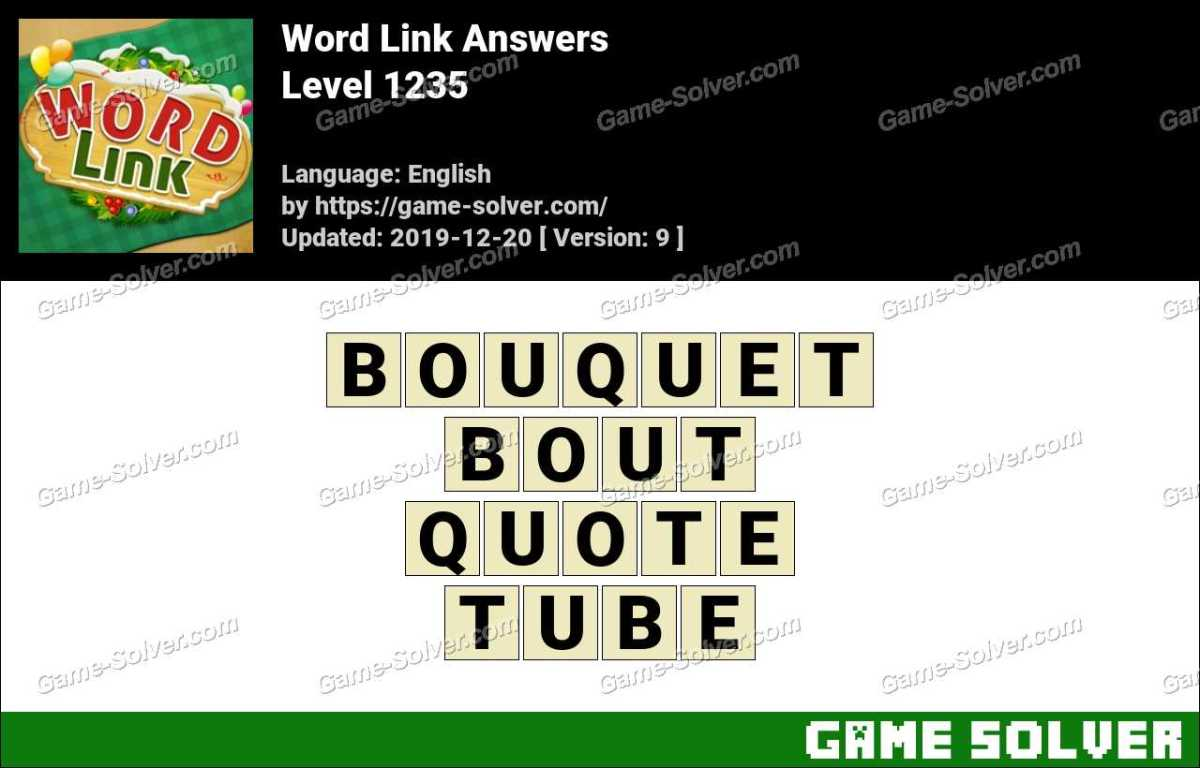 Word Link Level 1235 Answers