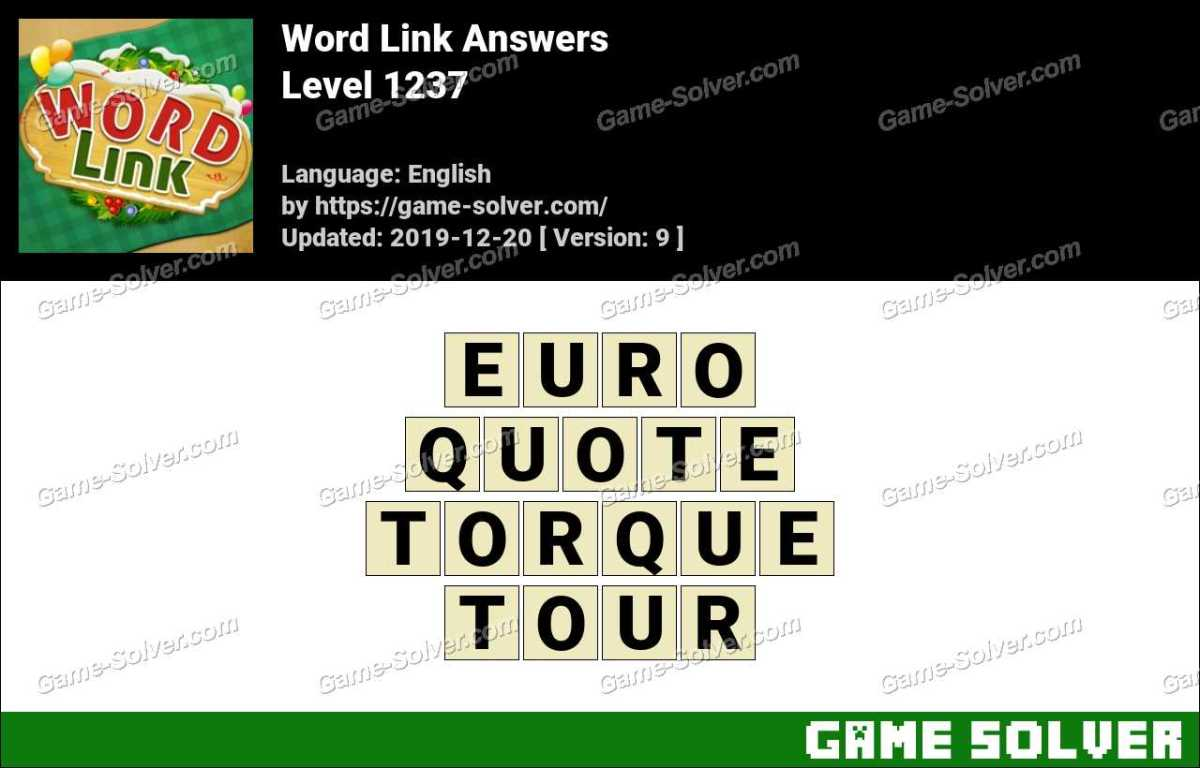 Word Link Level 1237 Answers