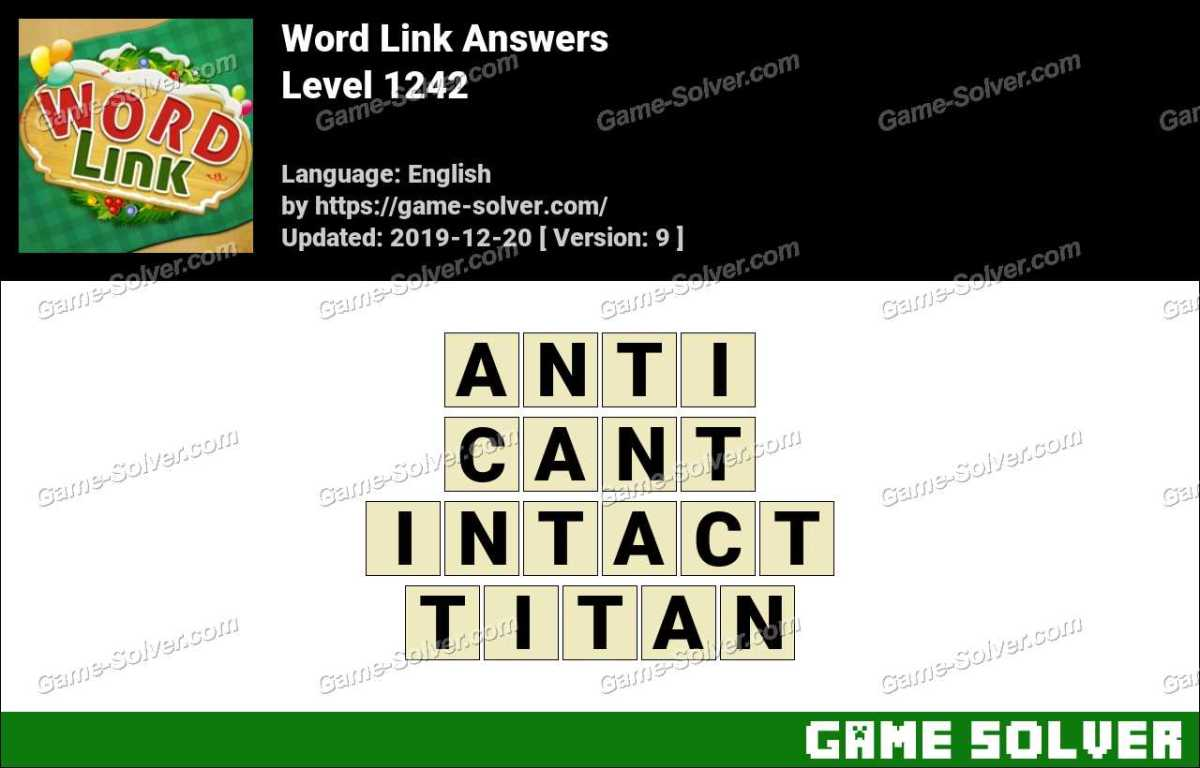 Word Link Level 1242 Answers