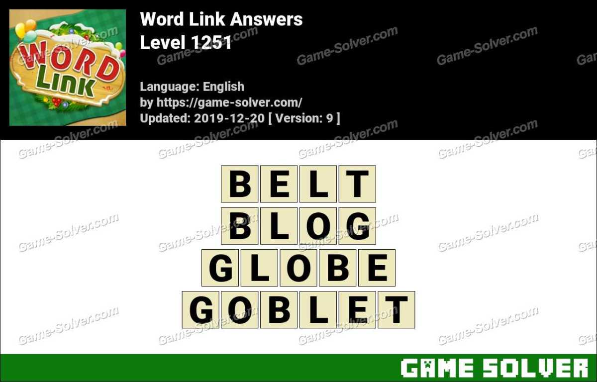 Word Link Level 1251 Answers
