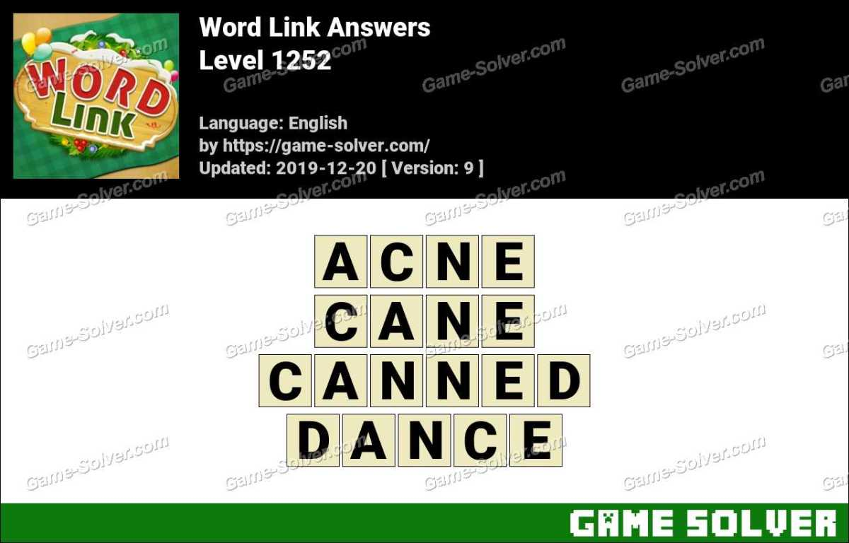Word Link Level 1252 Answers