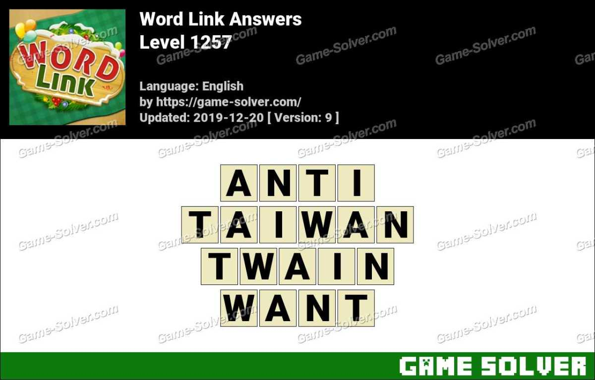 Word Link Level 1257 Answers