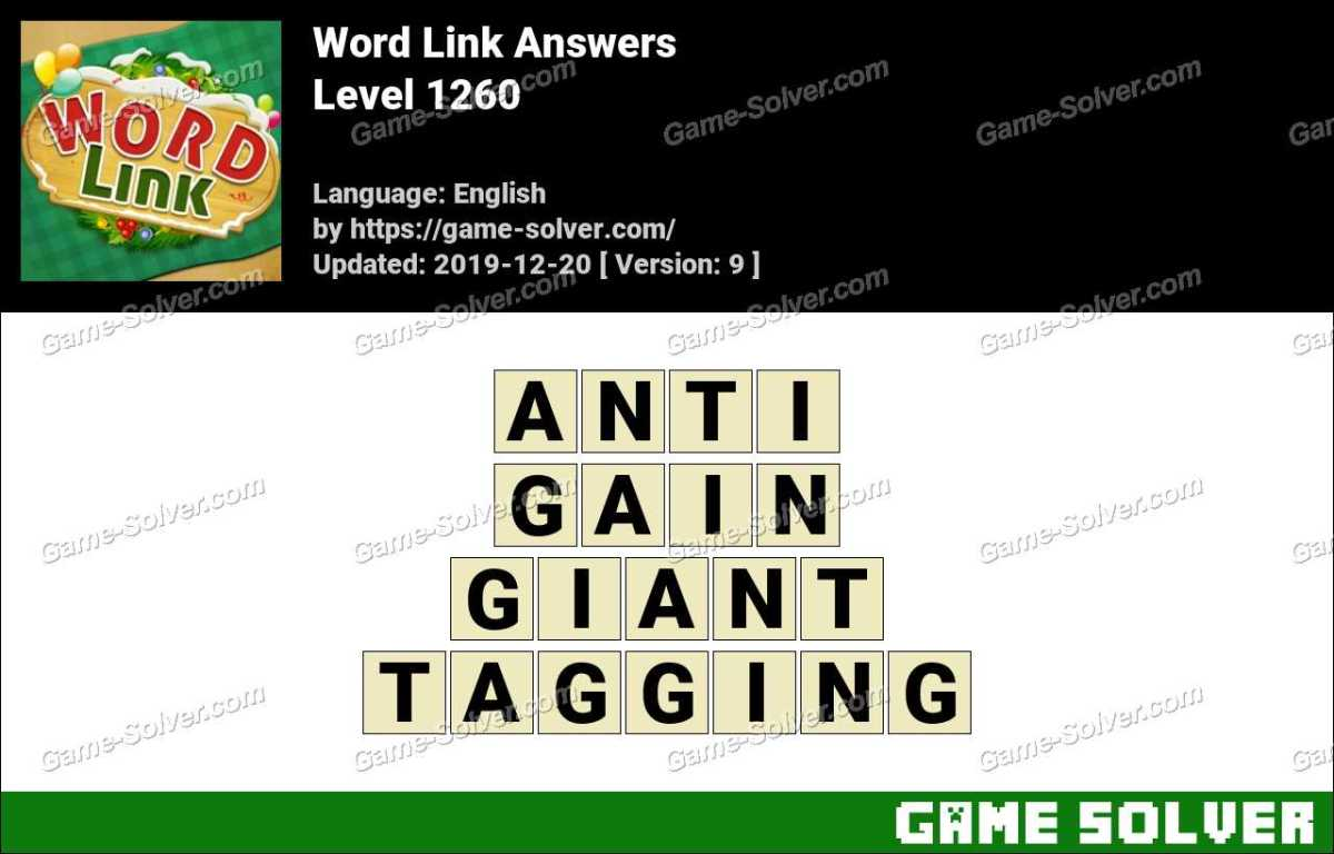 Word Link Level 1260 Answers