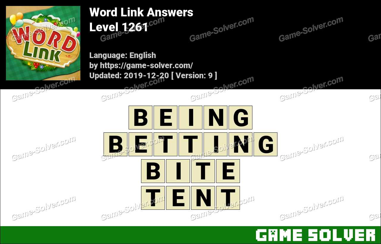 Word Link Level 1261 Answers
