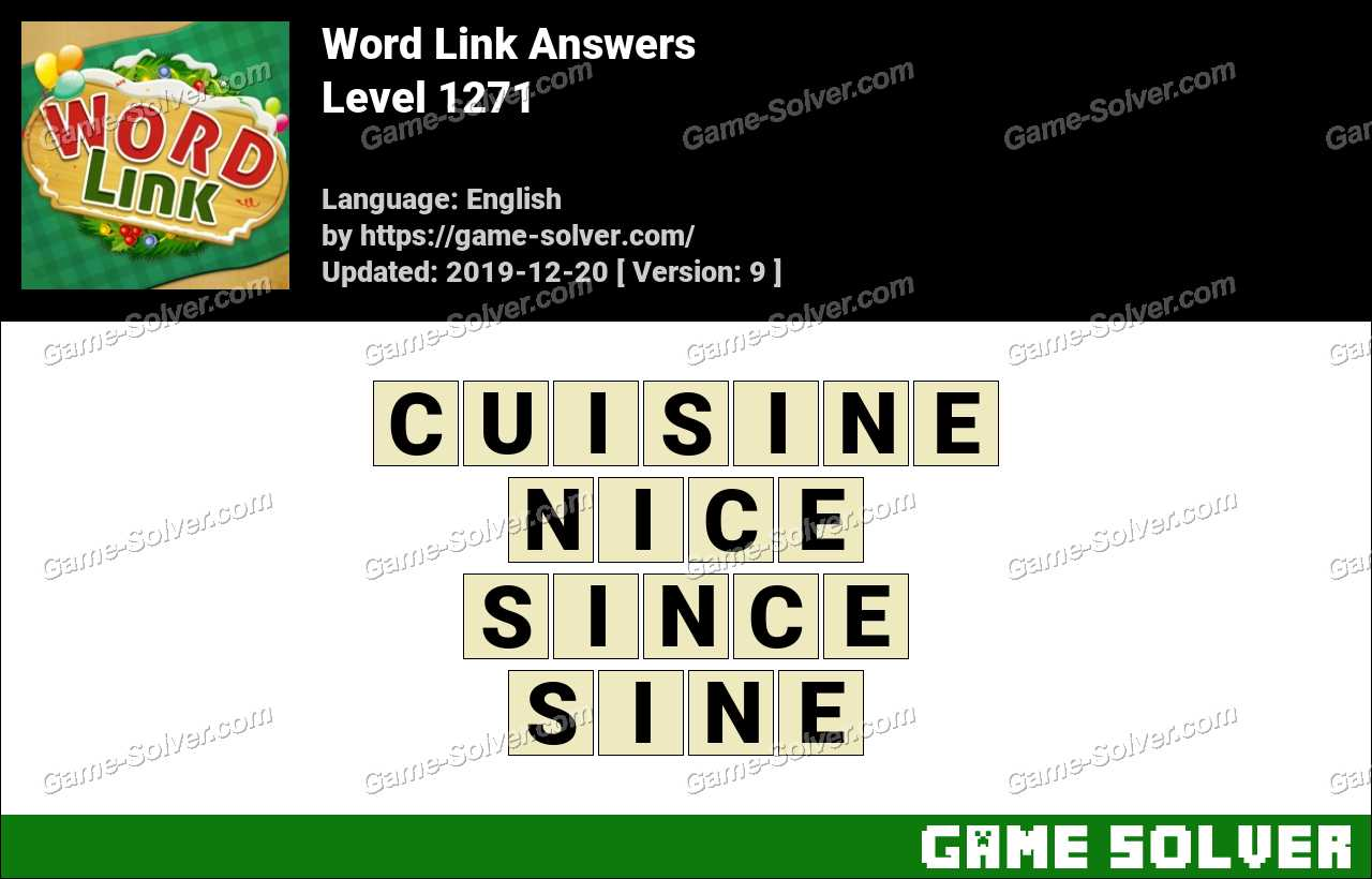 Word Link Level 1271 Answers