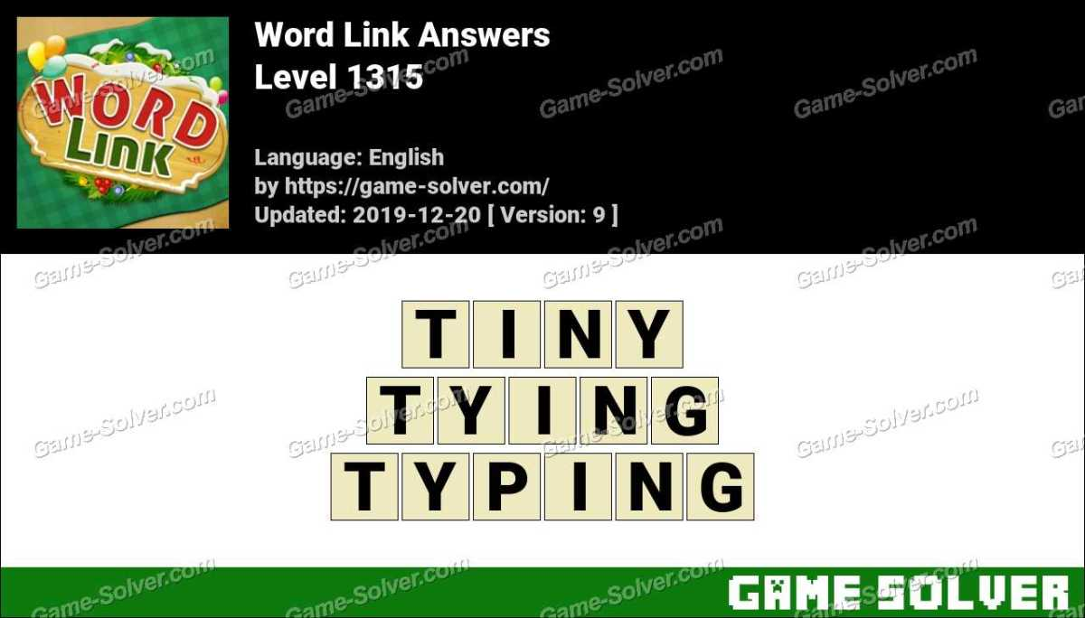 Word Link Level 1315 Answers