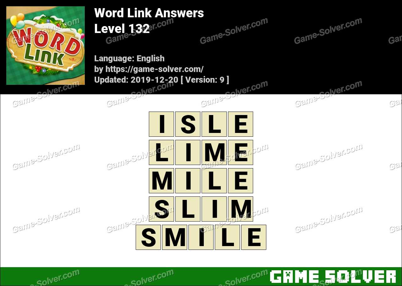 Word Link Level 132 Answers