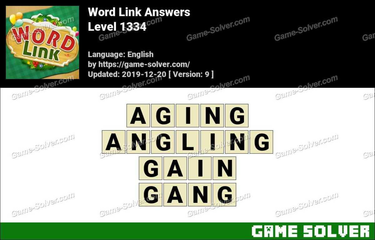 Word Link Level 1334 Answers
