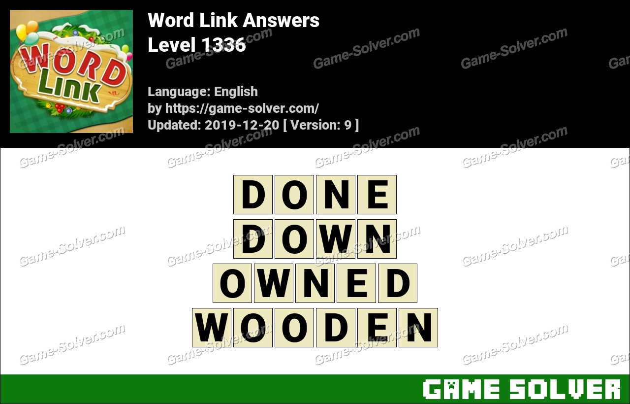 Word Link Level 1336 Answers
