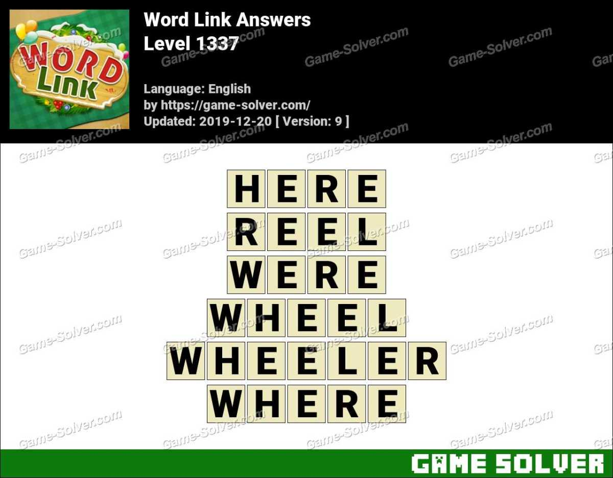 Word Link Level 1337 Answers