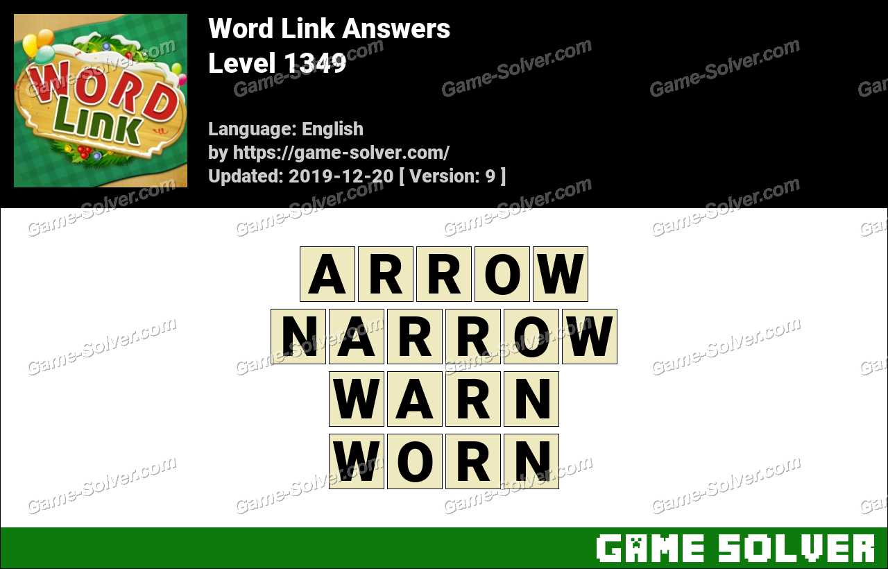 Word Link Level 1349 Answers