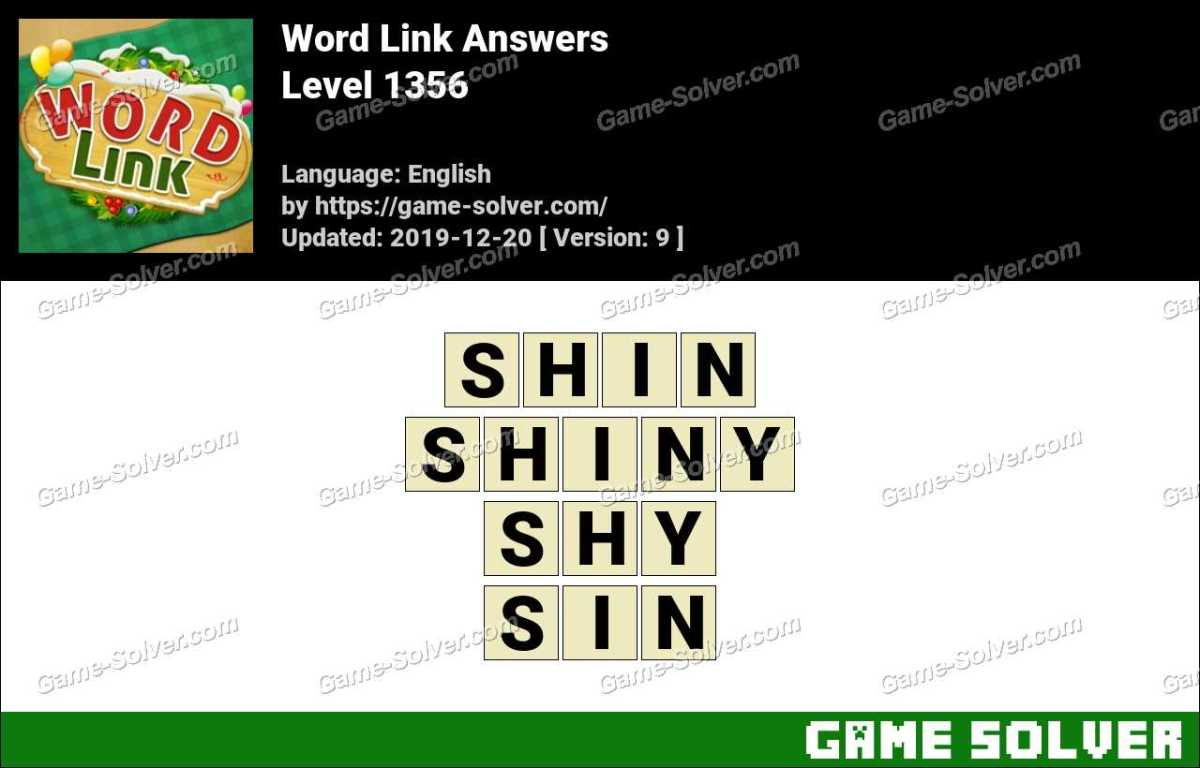 Word Link Level 1356 Answers