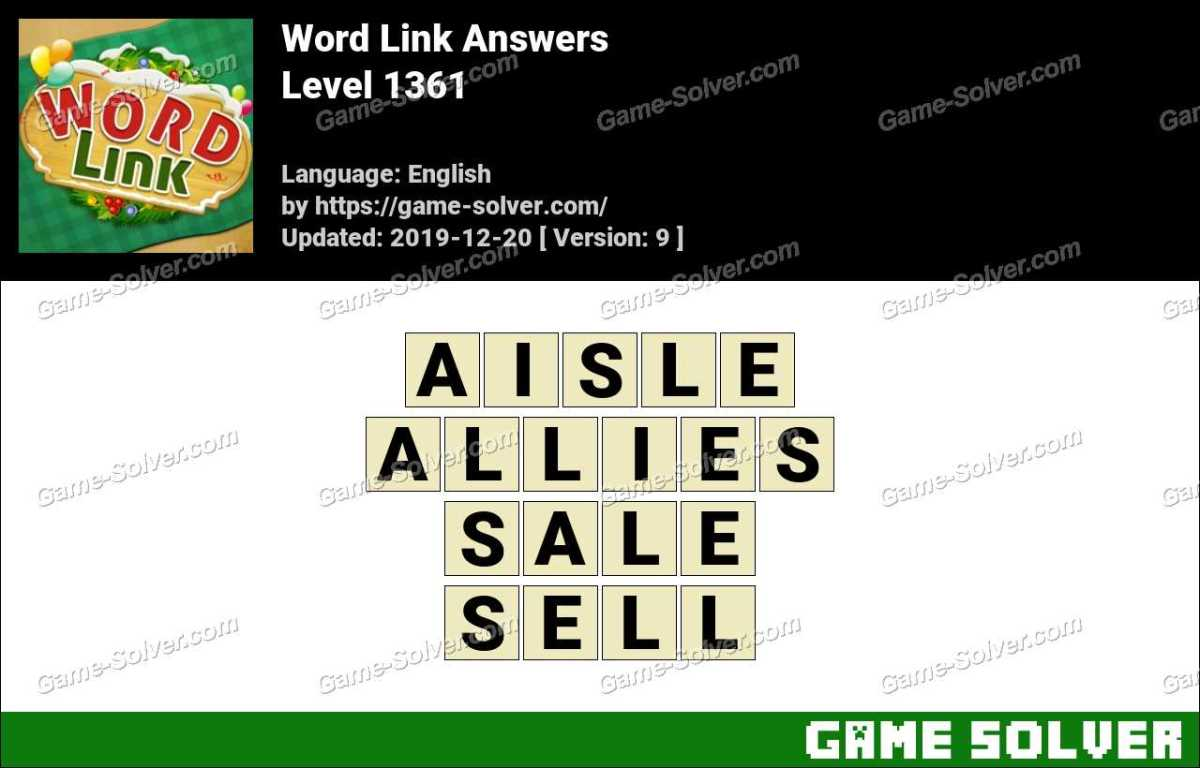 Word Link Level 1361 Answers