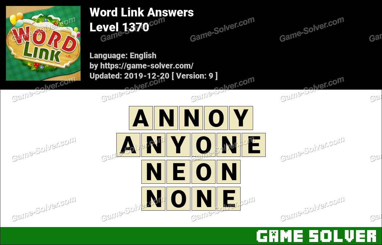Word Link Level 1370 Answers