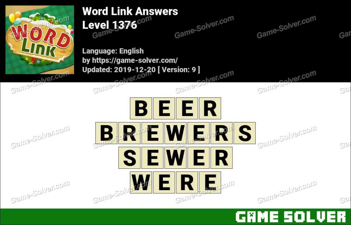 Word Link Level 1376 Answers