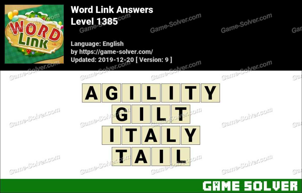 Word Link Level 1385 Answers