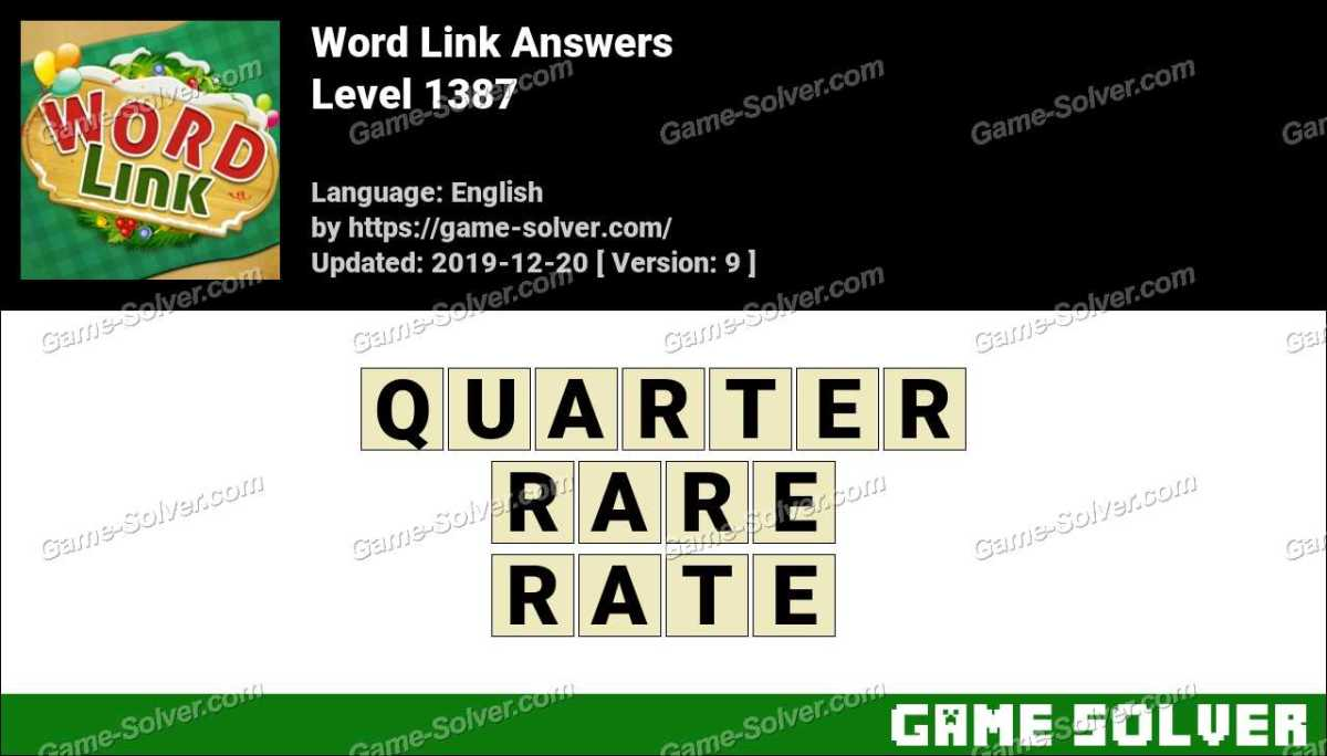 Word Link Level 1387 Answers