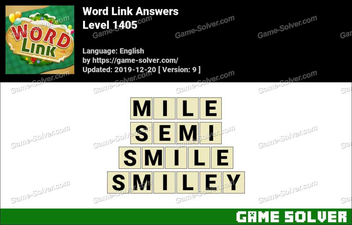 Word Link Level 1405 Answers