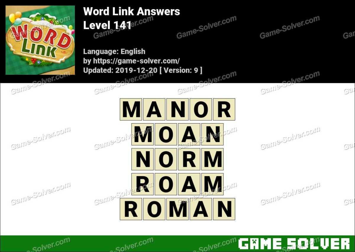 Word Link Level 141 Answers