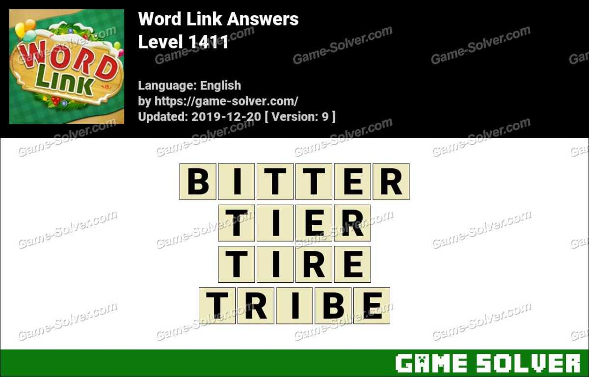 Word Link Level 1411 Answers
